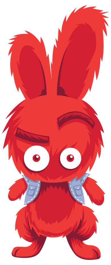 Red Bunny by anggatantama