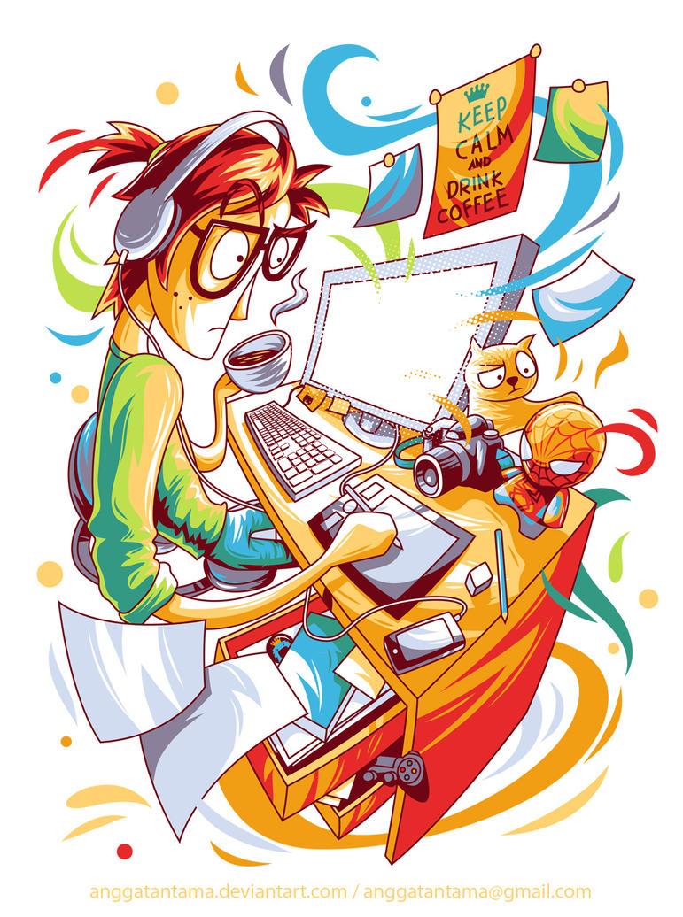 Busy Designer by anggatantama