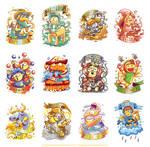 12 cute zodiac characters