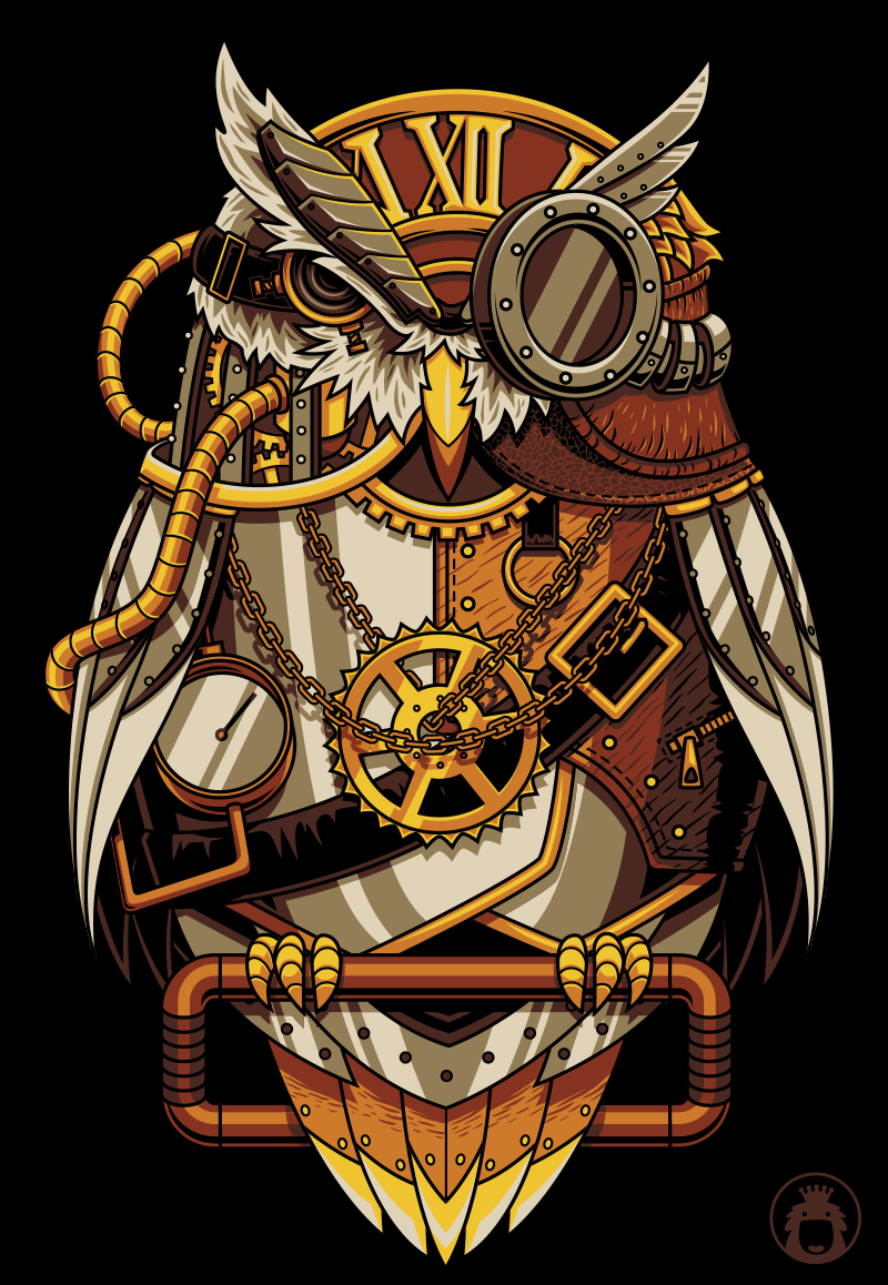 Steam punk owl by anggatantama on deviantart T shirt with owl design