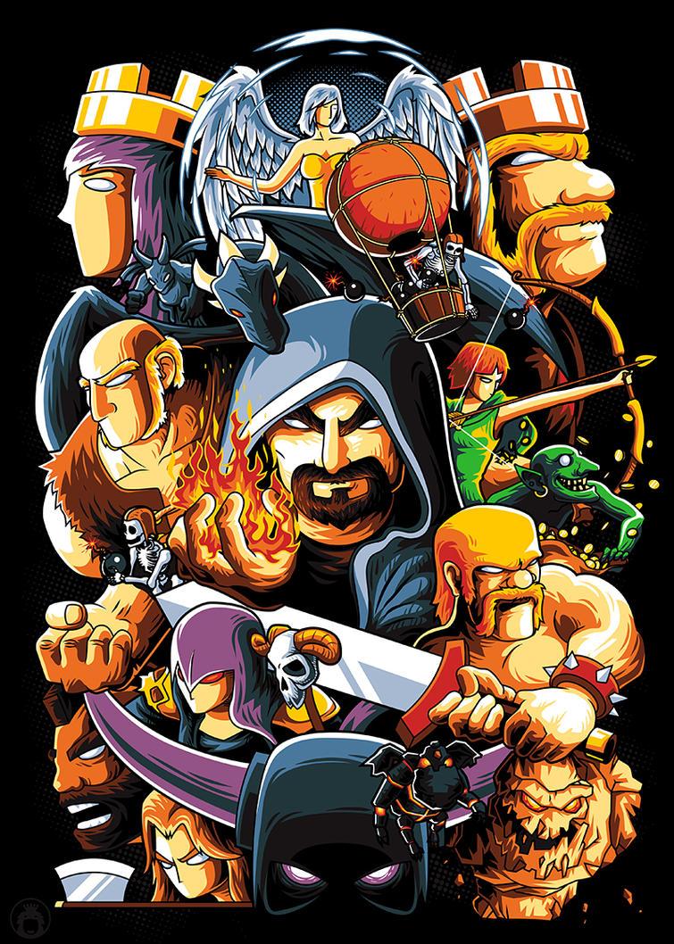 Clash of Clan: The Clan Warriors by anggatantama