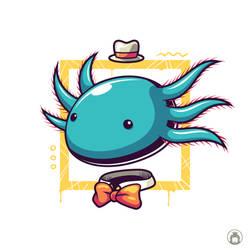 Bluboo the axolotl by anggatantama