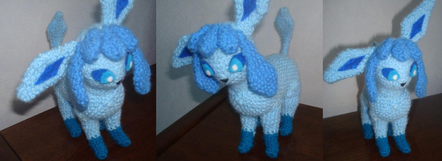 Crochet Glaceon by Morethantoday