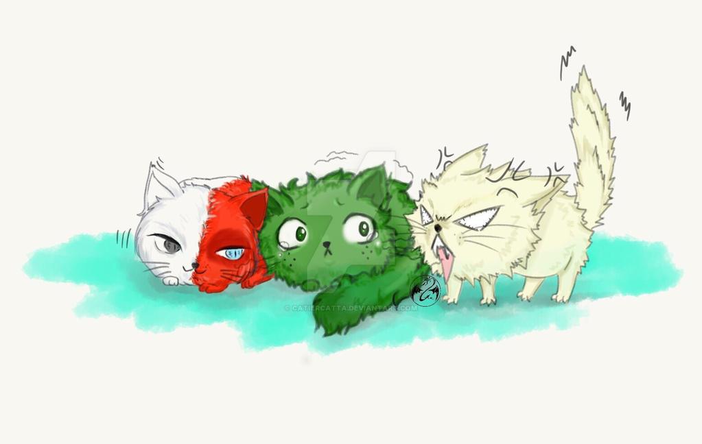 BnHA fanart - TodoBakuDeku cat ver  by CatierCatta on DeviantArt