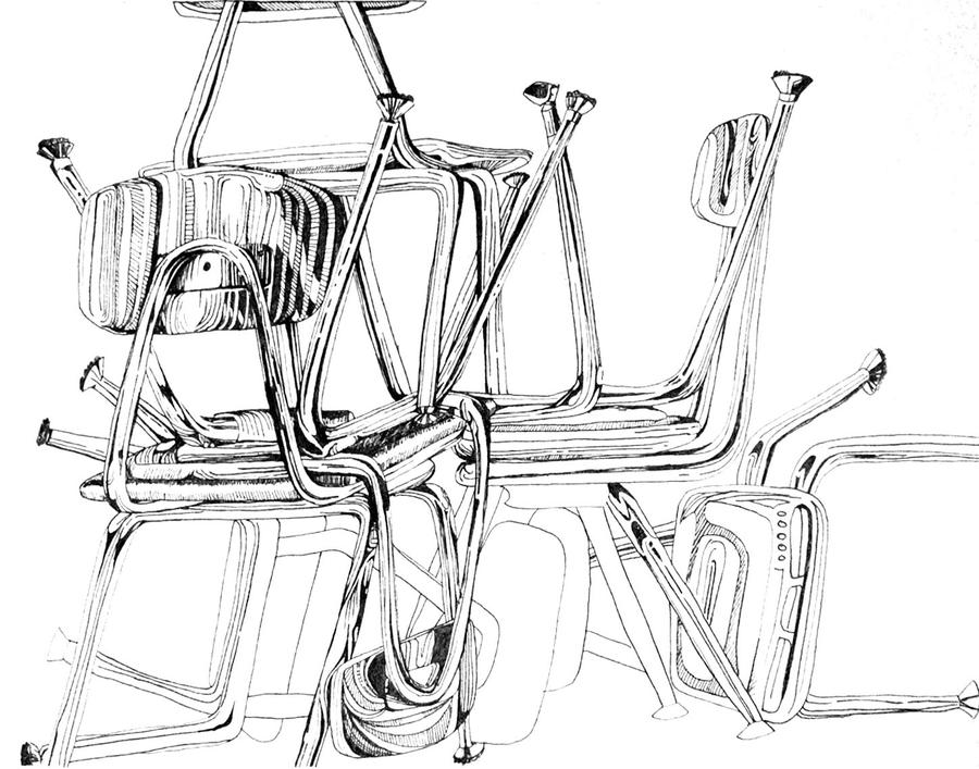 Still life of chairs by corelila