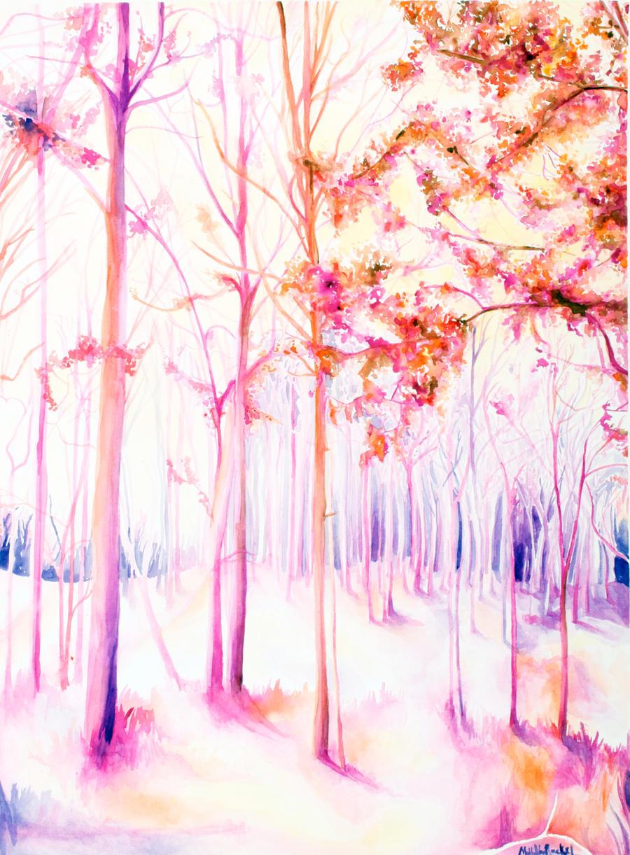 Tree watercolor by corelila
