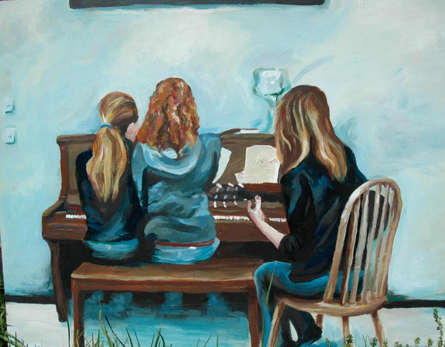 Piano girls by corelila