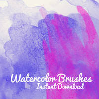 Watercolor brushes by corelila