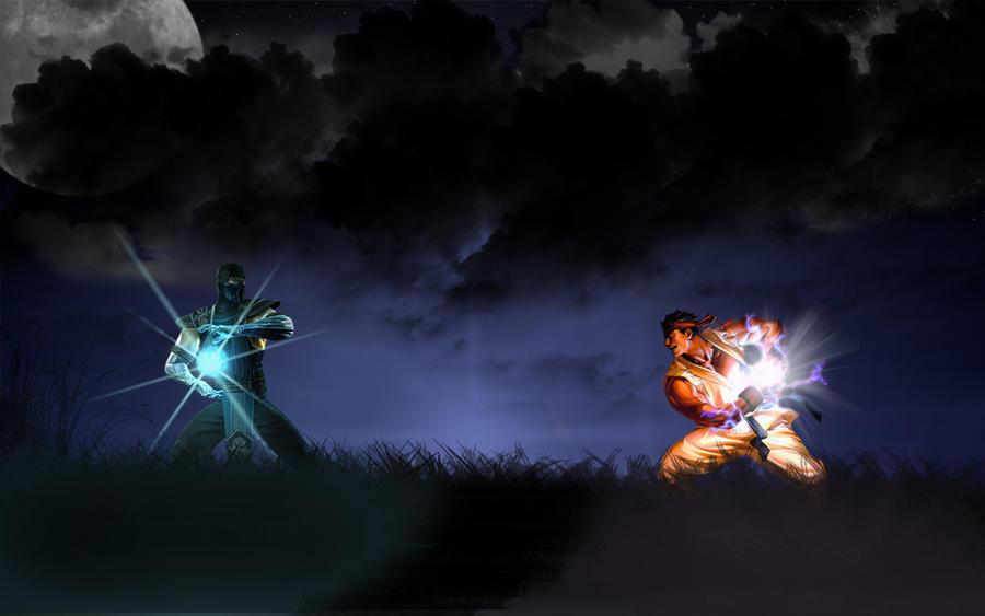 SubZero VS Ryu by deviilll