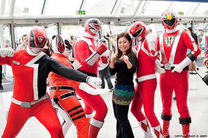 Power rangers at the Expo.