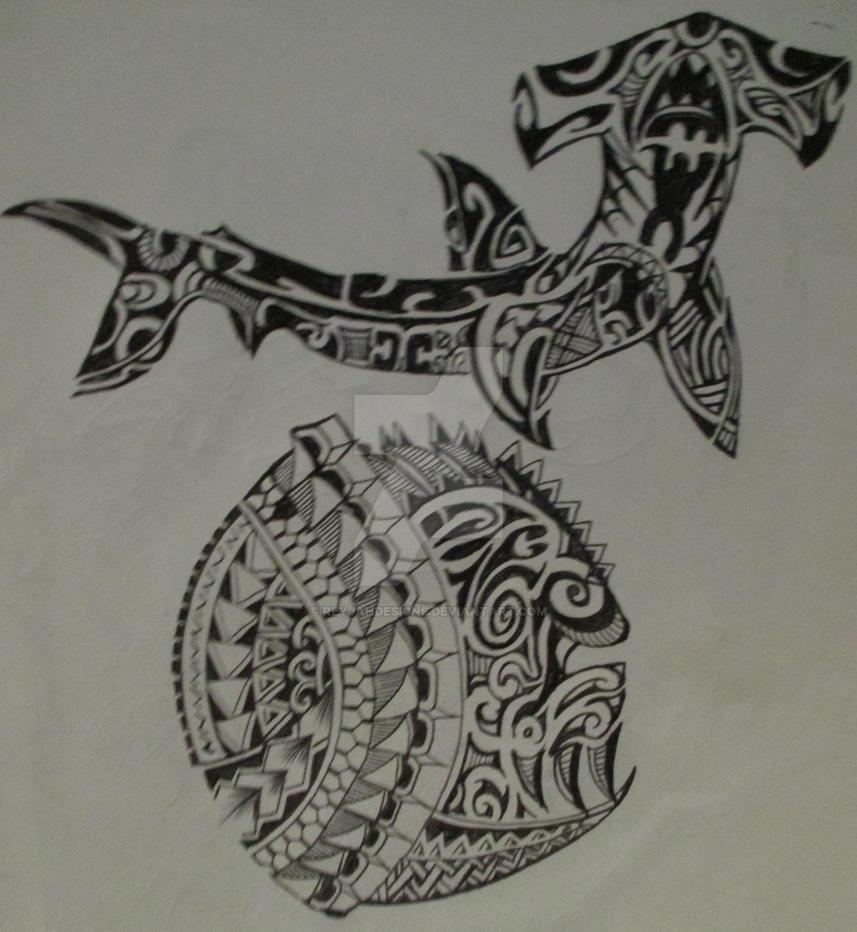 Polynesian Ocean Tattoo Designs