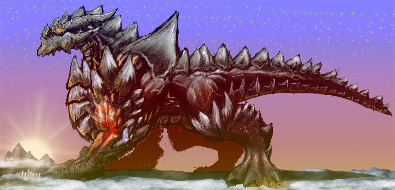 Giant Mountain Dragon By IGiganticusI On DeviantArt