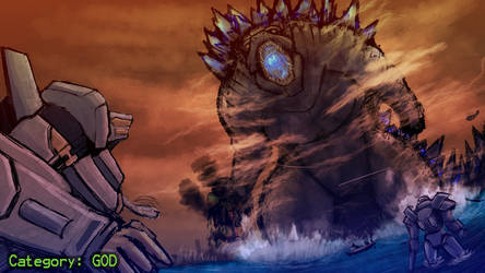 Godzilla vs Pacific Rim by IGiganticusI