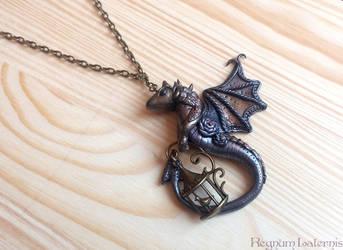 Dragon and his bird pet by RegnumLaternis