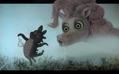 pony in the mist by porkcow