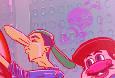 Mario Retold scene (link in description) by porkcow
