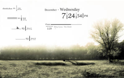 Simple Rainmeter Skin by sadasas