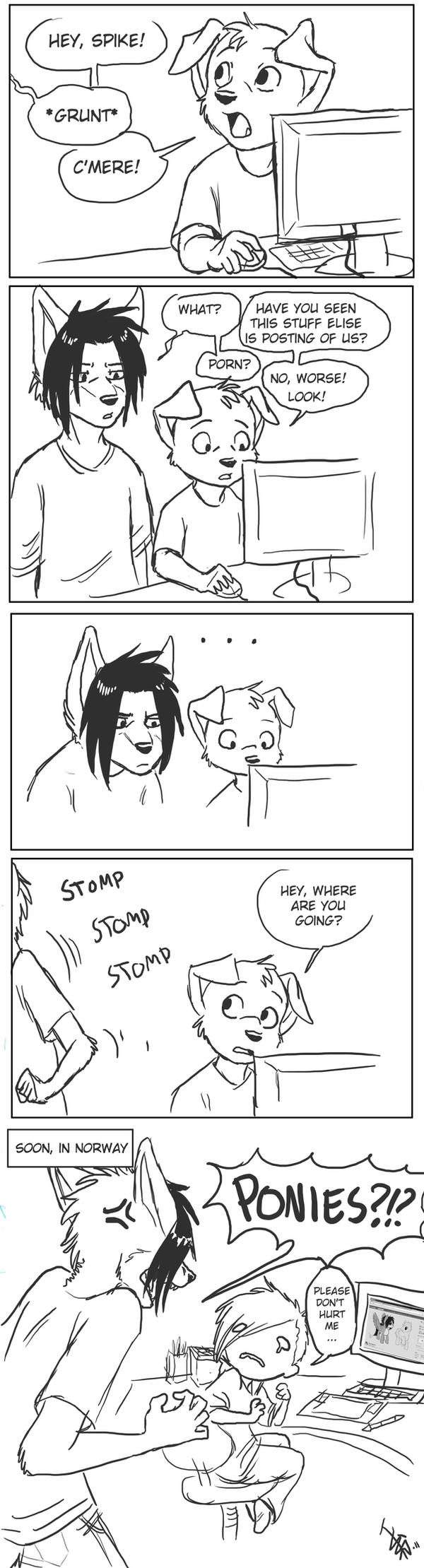 Spike's reaction by oomizuao