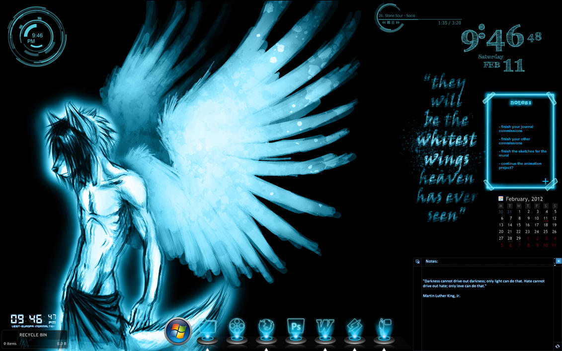 current desktop feb 2012 by oomizuao