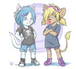 Lillith and Mercedes as kids