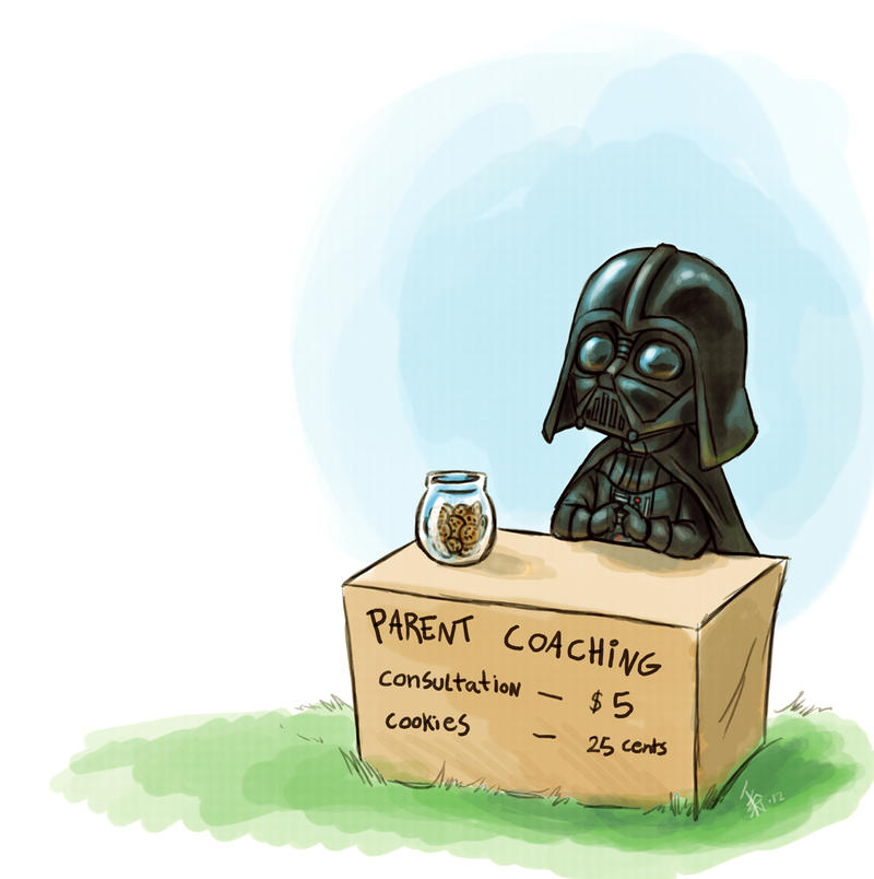 Darth Vader - parent coaching by oomizuao