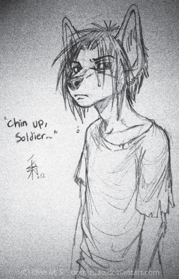 Chin Up, Soldier by oomizuao