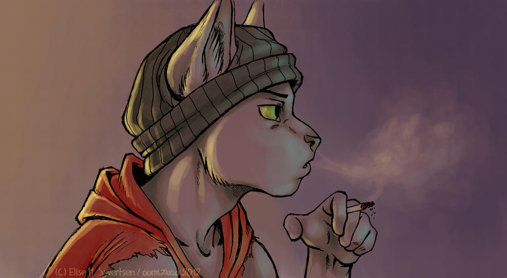 just Cain and a cigarette by oomizuao