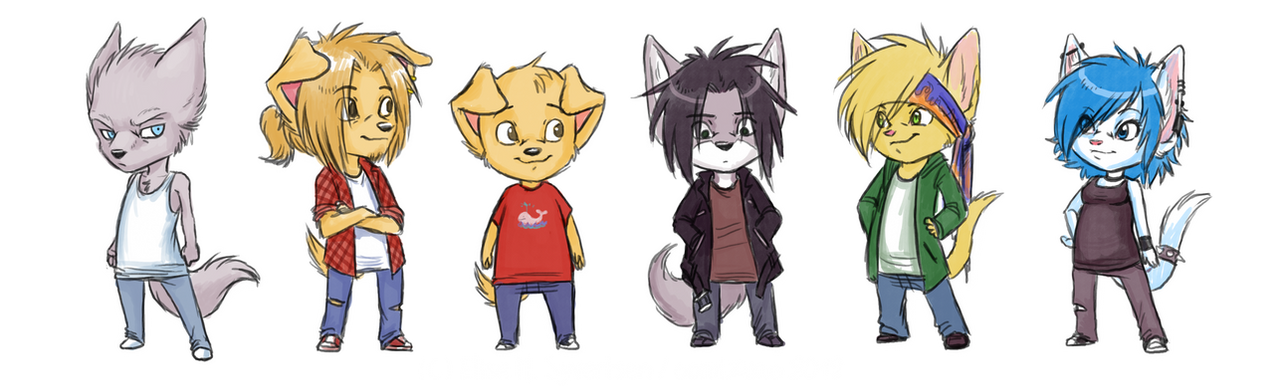 main characters of SPIKE by oomizuao