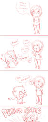 Comic - monthly cramps by oomizuao