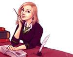 Julie as a Hogwarts student