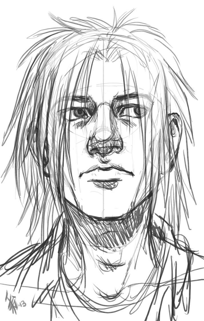 human Spike sketch - feb2013 by oomizuao