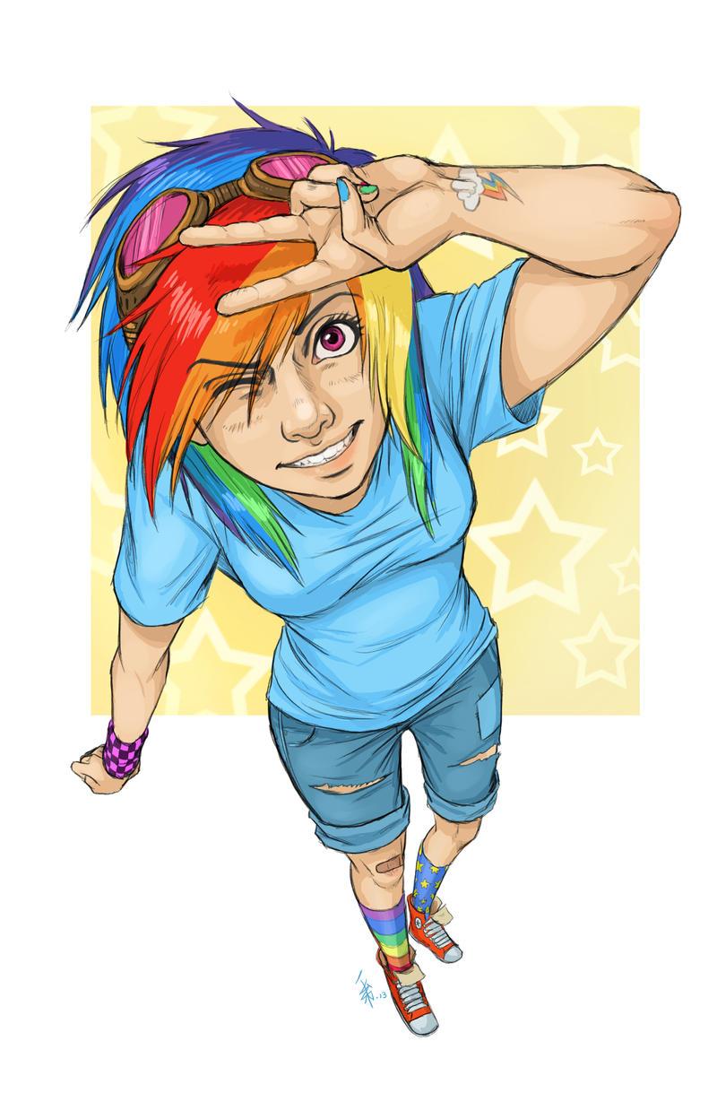 FANART - Rainbow Dash gift-art by oomizuao