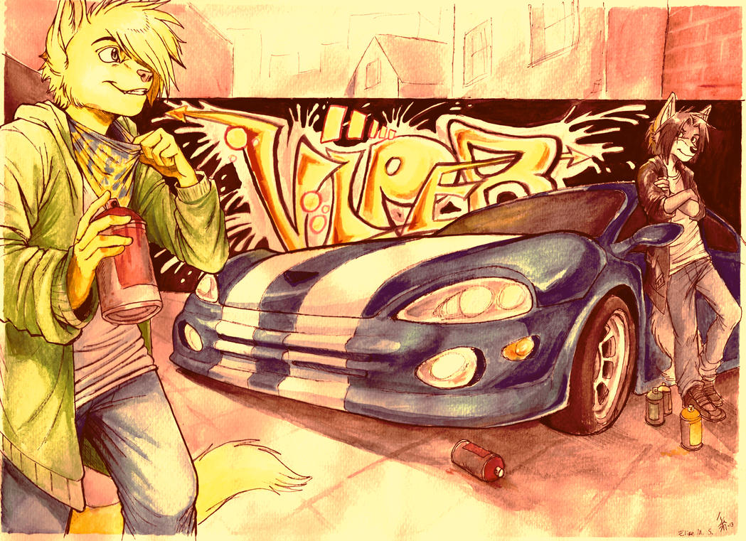 Ray Klein __totally_not_our_car___by_oomizuao-d5z42vj