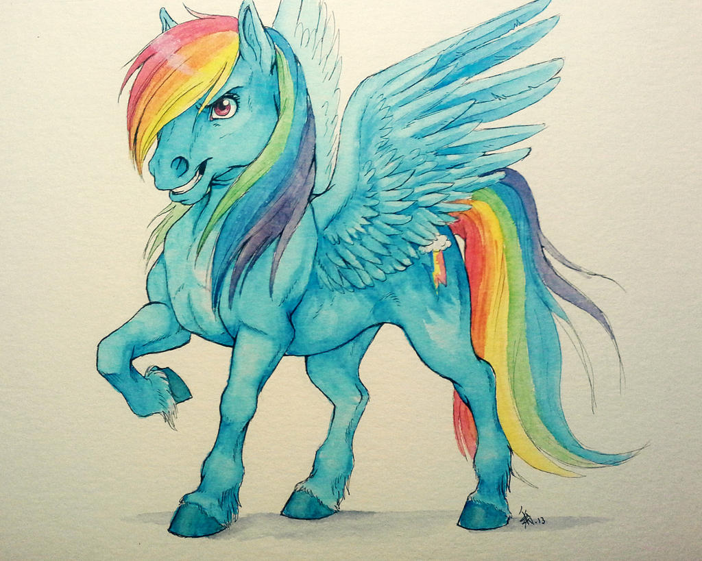 Fanart I Guess Rainbow Dash Watercolors By Oomizuao On