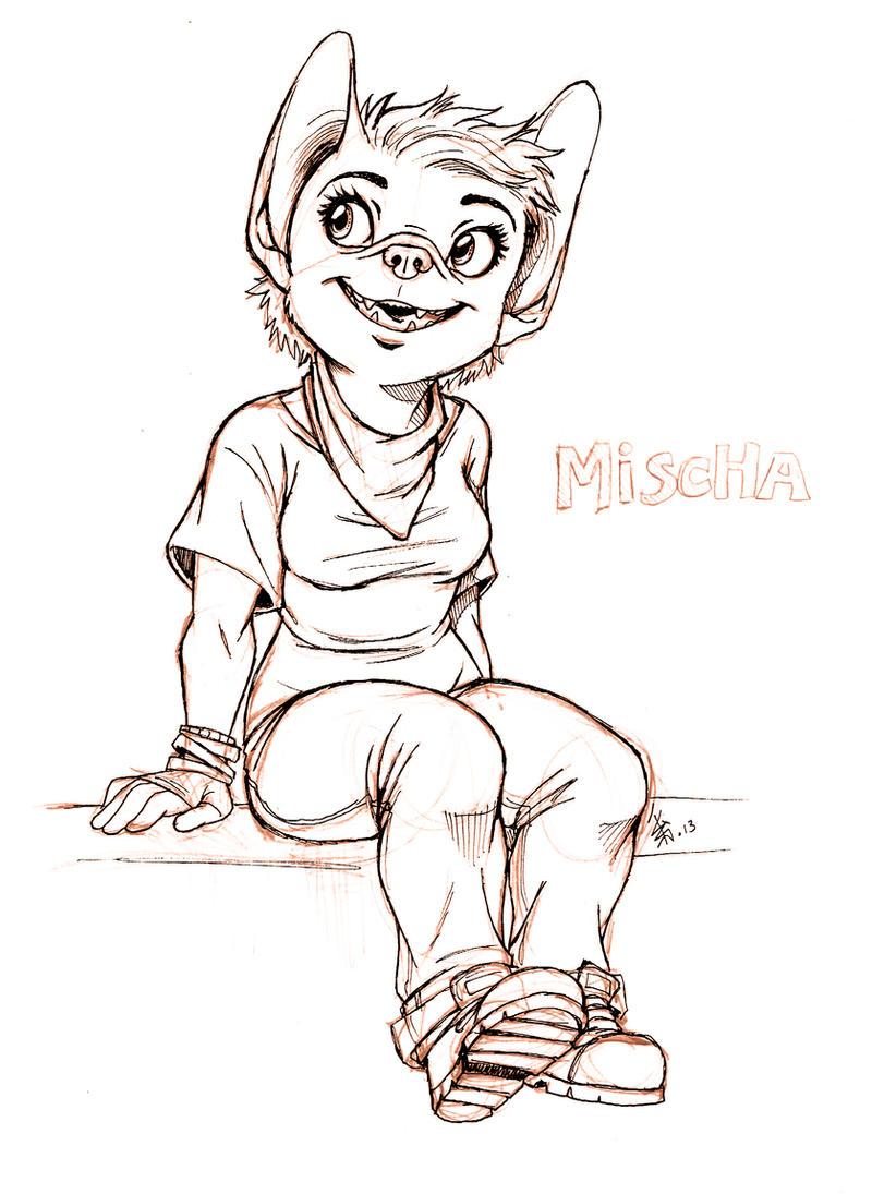 - new character - Mischa - by oomizuao