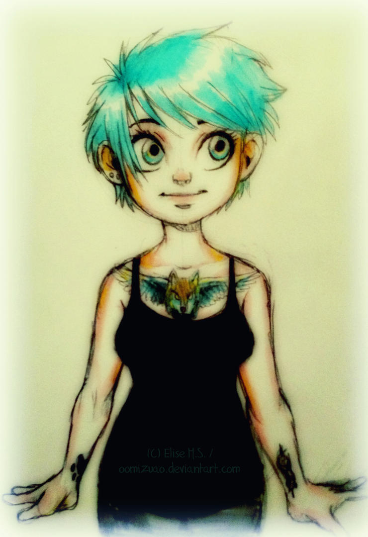 selfie sketch by oomizuao