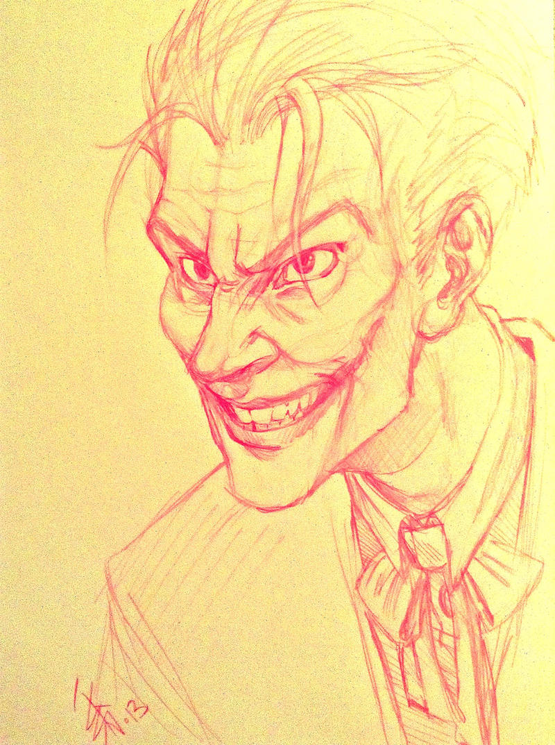 FANART - The Joker - freehand sketch by oomizuao