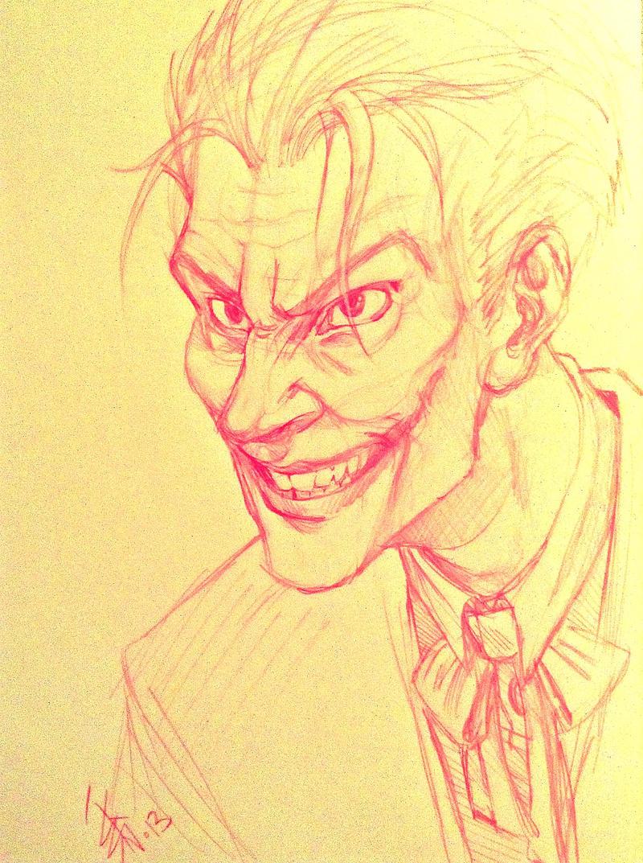 FANART - The Joker - freehand sketch by oomizuao