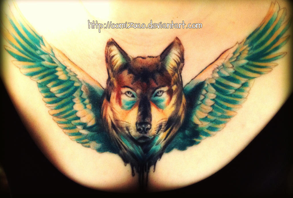 4699eb3c4 chest-piece Wolf tattoo completed by oomizuao on DeviantArt
