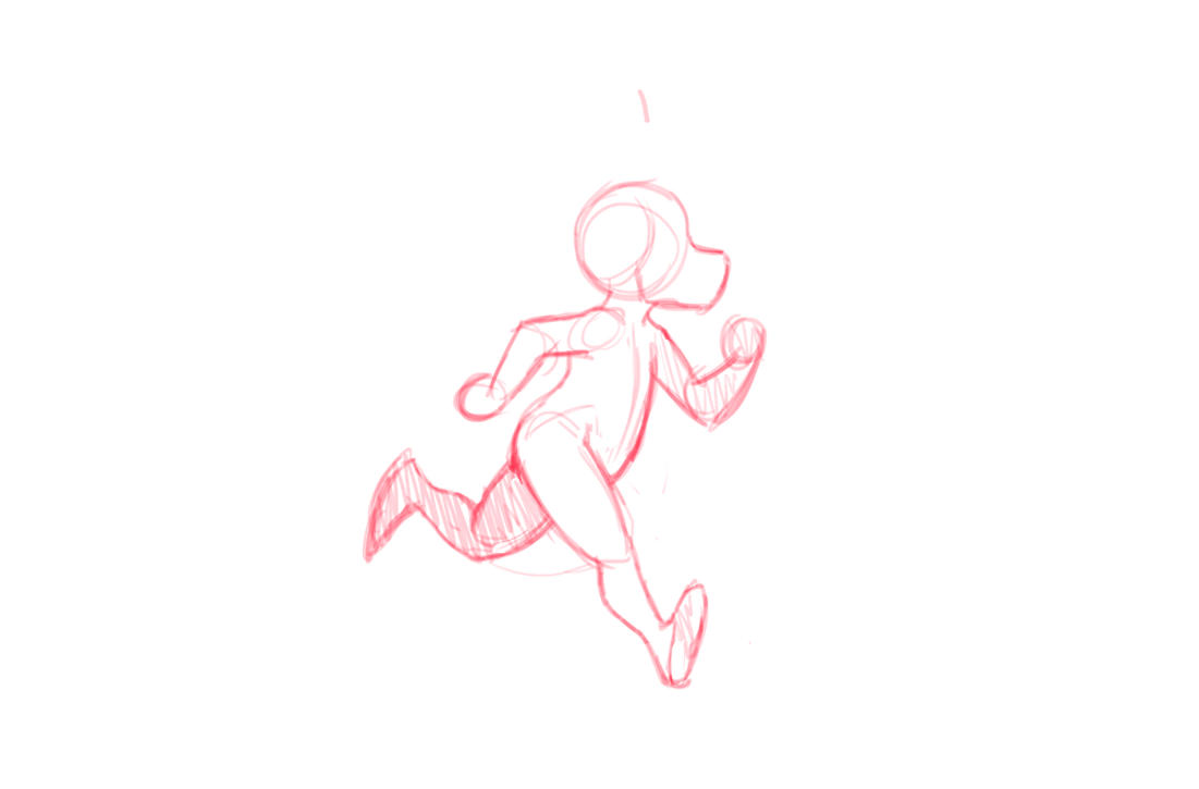 Animation - running - stage 1 by oomizuao