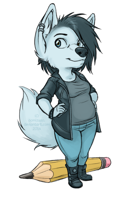 updated fursona thingy by oomizuao