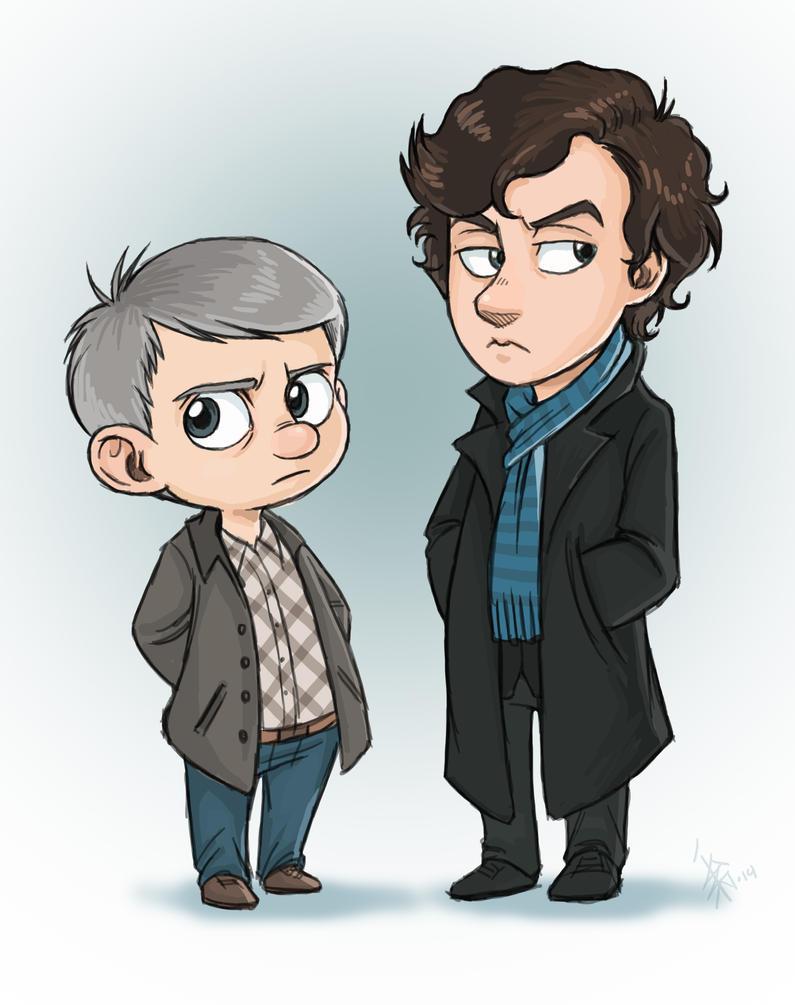 FANART - BBCs Sherlock - chibis by oomizuao