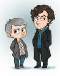 FANART - BBCs Sherlock - chibis