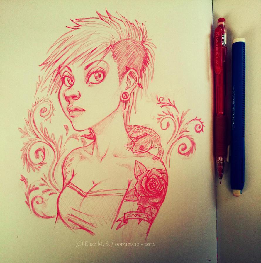 Gecko Girl -- WIP by oomizuao