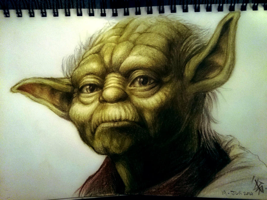 Yoda portrait - realism practice