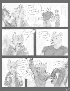 Comic Sketch: middle finger