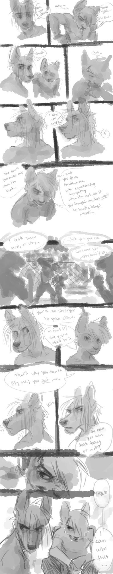 Cage Fight - scene idea by oomizuao