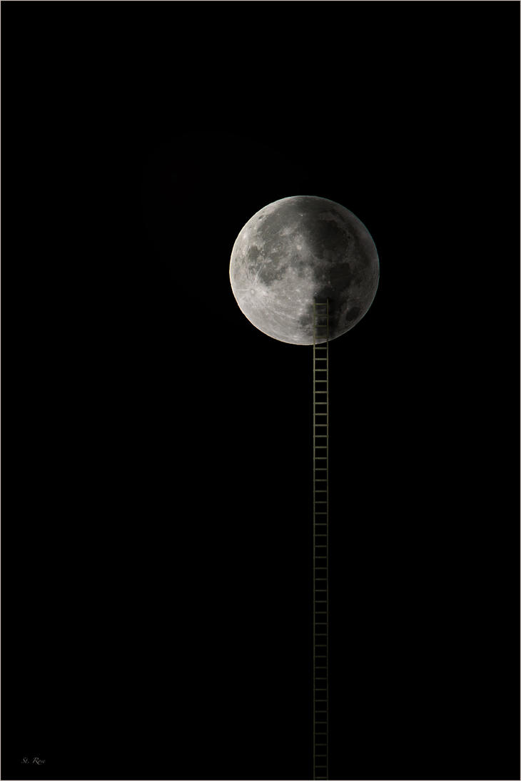 stairway to moon by Absturzius
