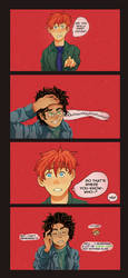 Avery short comic between Harry and Ron by NellGrey14