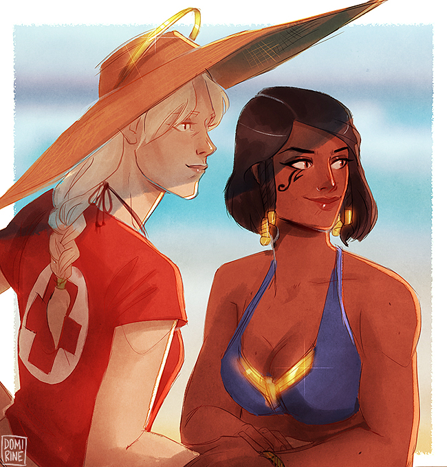 overwatch babes by domirine